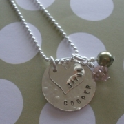 Heartling Layered Stamped Necklace
