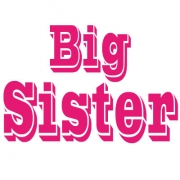 Personalised Clothing Big Sister DesignAvailable in a t-shirt, bib, bodysuit, singlet, apron, santa sack, library bag & shoulder bag