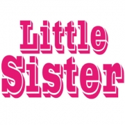 Personalised Clothing Little Sister DesignAvailable in a t-shirt, bib, bodysuit, singlet, apron, santa sack, library bag & shoulder bag