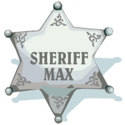 Personalised ClothingSheriff Badge DesignAvailable in a t-shirt, bib, bodysuit, singlet, apron, santa sack, library bag & shoulder bag