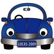 Personalised ClothingCar Blue DesignAvailable in a t-shirt, bib, bodysuit, singlet, apron, santa sack, library bag & shoulder bag