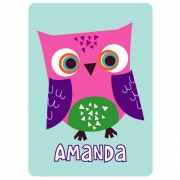 Personalised ClothingOwl Pink DesignAvailable in a t-shirt, bib, bodysuit, singlet, apron, santa sack, library bag & shoulder bag