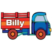 Personalised ClothingTruck DesignAvailable in a t-shirt, bib, bodysuit, singlet, apron, santa sack, library bag & shoulder bag