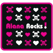 Personalised ClothingI Rock Girl DesignAvailable in a t-shirt, bib, bodysuit, singlet, apron, santa sack, library bag & shoulder bag
