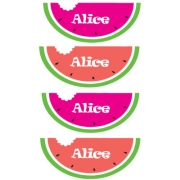 Personalised ClothingWatermelon DesignAvailable in a t-shirt, bib, bodysuit, singlet, apron, santa sack, library bag & shoulder bag