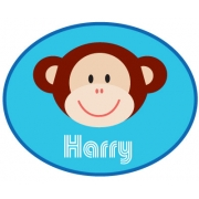 Personalised ClothingMonkey Blue DesignAvailable in a t-shirt, bib, bodysuit, singlet, apron, santa sack, library bag & shoulder bag