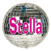 Personalised ClothingDisco Ball (Metallic) DesignAvailable in a t-shirt, bib, bodysuit, singlet, apron, santa sack, library bag & shoulder bag