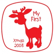 Personalised ClothingChristmas Reindeer Silouette DesignAvailable in a t-shirt, bib, bodysuit, singlet, apron, santa sack, library bag & shoulder bag