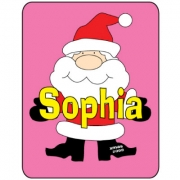 Personalised ClothingChristmas Santa Girl DesignAvailable in a t-shirt, bib, bodysuit, singlet, apron, santa sack, library bag & shoulder bag
