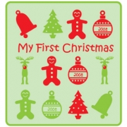 Personalised ClothingFirst Christmas Generic DesignAvailable in a t-shirt, bib, bodysuit, singlet, apron, santa sack, library bag & shoulder bag