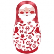 Personalised ClothingChristmas Santa Babushka DesignAvailable in a t-shirt, bib, bodysuit, singlet, apron, santa sack, library bag & shoulder bag