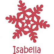 Personalised ClothingChristmas Snowflake Star DesignAvailable in a t-shirt, bib, bodysuit, singlet, apron, santa sack, library bag & shoulder bag
