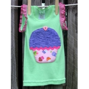 Blueberry Cupcake Applique T shirtsizes 000 - 6