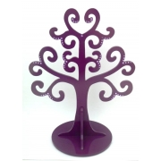 Jewellery Tree - LARGE Choose from over 20 colours shown here in violet gloss with mauve gems