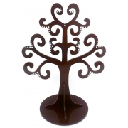 Jewellery Tree - LARGE Choose from over 20 colours shown here in chocolate gloss with silver gems