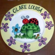 Handpainted Plate - Lady Bird