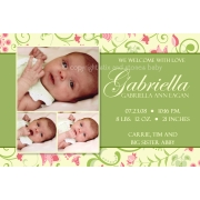 Christening Invitation 'Lime Tulip'