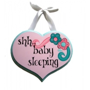 Baby Sleeping Sign - BirdieColours can be customised to suit