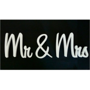 Scripted Wedding Name PlaqueMr & Mrs20 cm high x 18 mm thickSweet font - 3 pieces