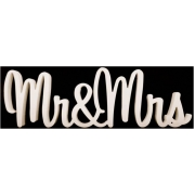 Scripted Wedding Name PlaqueMr&Mrs18 cm high x 18 mm thick