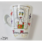 Handpainted Latte MugYummy MummyCan also be personalised