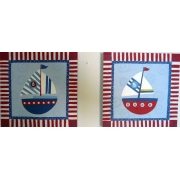 Sailboat Stripes(Set of 2)