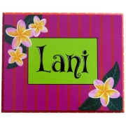 Name Plaque'Frangipani'