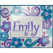 Name Plaque'Purple Swirl'