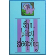 Baby Sleeping Sign - Little DinosaurColours can be customised to suit