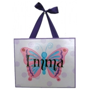 Name Plaque'Butterfly Spots Purple'