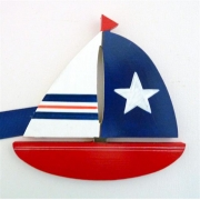 Artwork Hanger Set - Sail Boats - Red & NavyDisplay your child's pictures