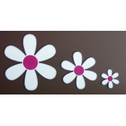 Wall Motif Set - FlowersPainted