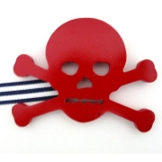 Artwork Hanger Set - Pirate Crossbones - RedDisplay your child's pictures