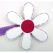 Artwork Hanger Set - Flower - White & PurpleDisplay your child's pictures