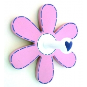 Coat Hook - Flower Pink