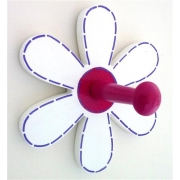 Coat Hook - Flower White