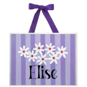 Name Plaque'Daisies Purple'