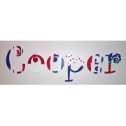 Alphabet Letters HandpaintedChoose your font & sizeRed, White & Blue