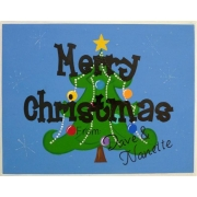 Christmas Plaque PersonalisedWith or without ribbon hangerChristmas Tree