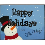 Christmas Plaque PersonalisedWith or without ribbon hangerSnowman