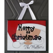 Christmas Plaque PersonalisedWith or without ribbon hangerSanta
