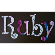 Alphabet Letters HandpaintedChoose your font & sizeRuby Spots & Stripes