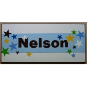 Personalised Name Plaque for kids wall or door Super Stars