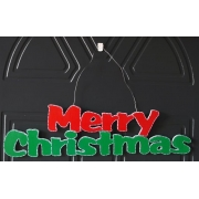 Merry Christmas Plaque on Wire Hanger