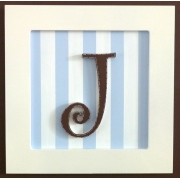 Initial Frame'Blue & White Stripes'