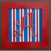Initial Frame'Red, White & Blue & Stripes'