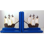 Book End Pair - Pirate Ship