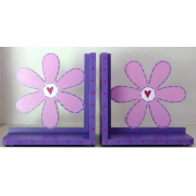Book End Pair - Flower