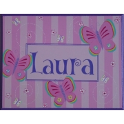 Name Plaque'Butterfly'