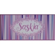 Name Plaque'Daisy Chain Pink & Blue'